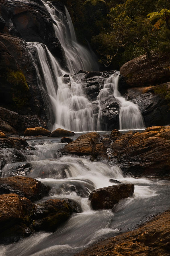 Lanscape Photograph - Bakers Fall. Horton Plains National Park. Sri Lanka by Jenny Rainbow