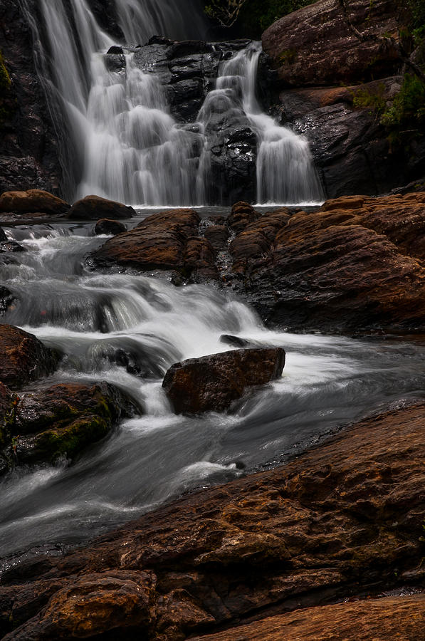 Landscape Photograph - Bakers Fall IIi. Horton Plains National Park. Sri Lanka by Jenny Rainbow