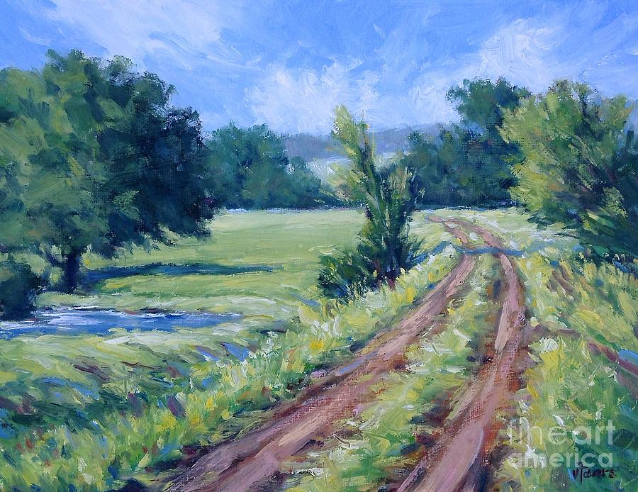 Ranch Painting - Bakers Ranch Road by Vickie Fears