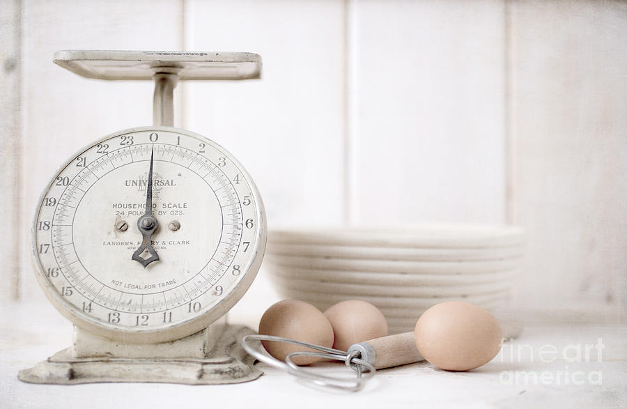 Baking Time Vintage Kitchen Scale Photograph by Edward ...