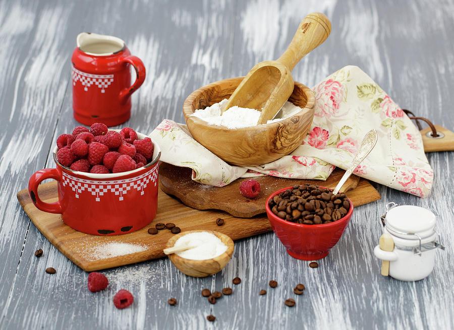 Baking With Sweet Raspberry And Coffee Photograph by Julia Khusainova