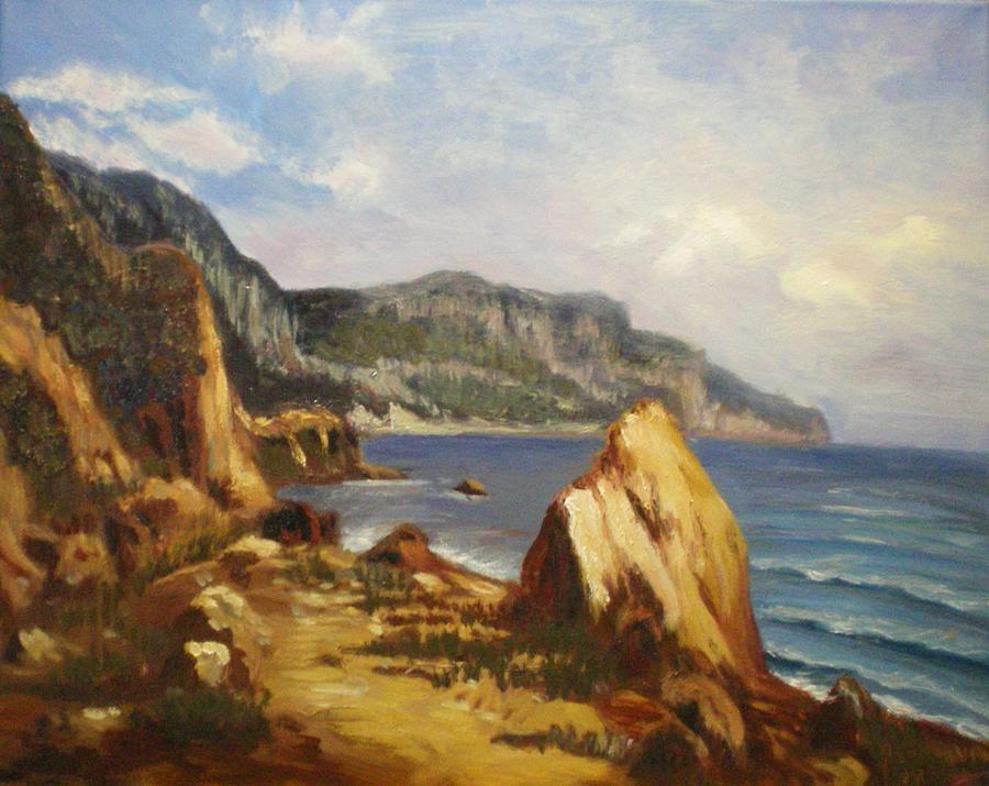 Landscape Painting - Balaklava by Elena Sokolova