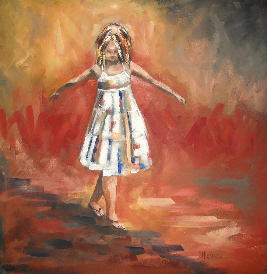 Girl Painting - Balancing Act by Brandi  Hickman