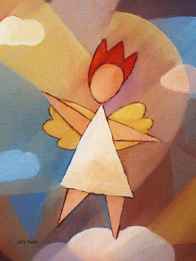 Angels Painting - Balancing Angel by Lutz Baar