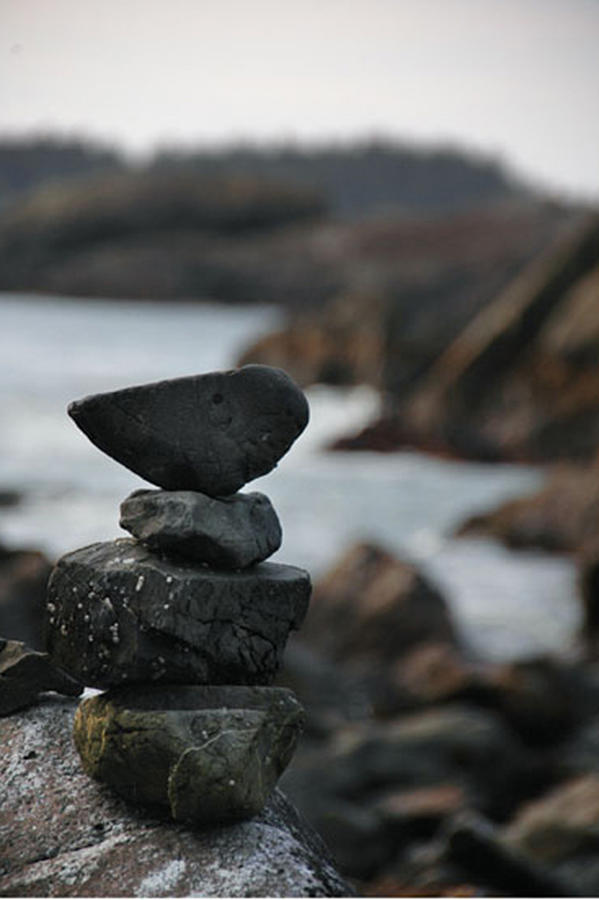 Pacific Coast Photograph - Balancing by Helen Worley