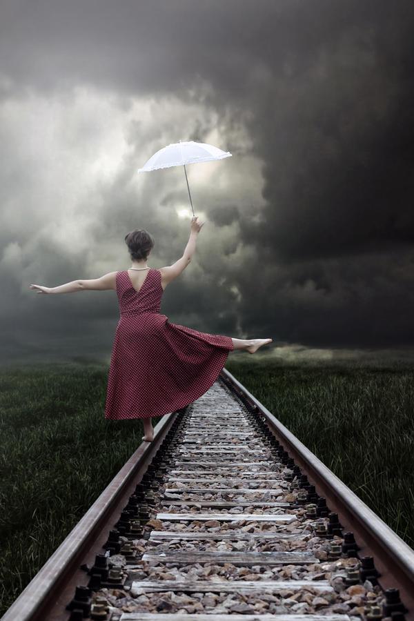 Woman Photograph - Balancing by Joana Kruse