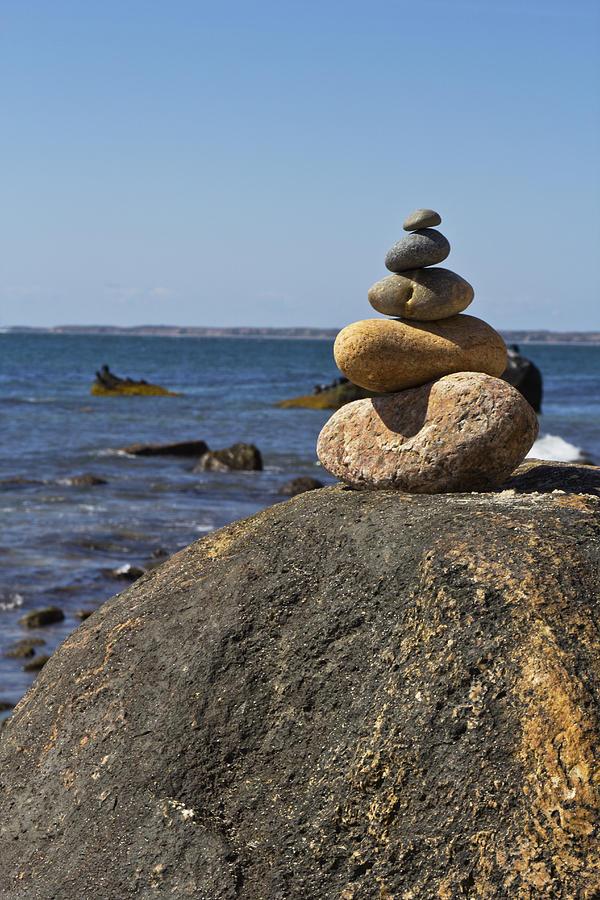 Cape Cod National Seashore Photograph - Balancing Rock 2 by Rosie McCobb