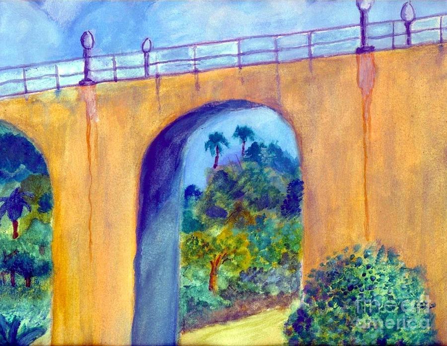 Bridge Painting - Balboa 163 Bridge by Jose Breaux