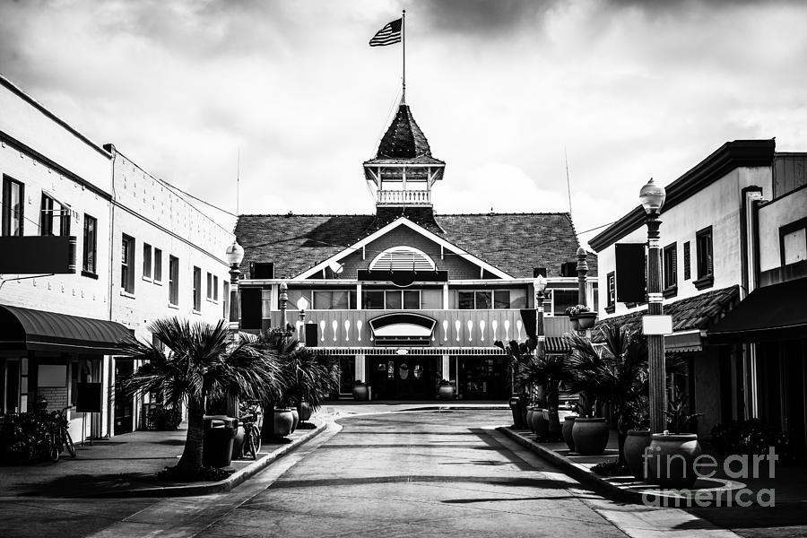 America Photograph - Balboa California Main Street Black And White Picture by Paul Velgos