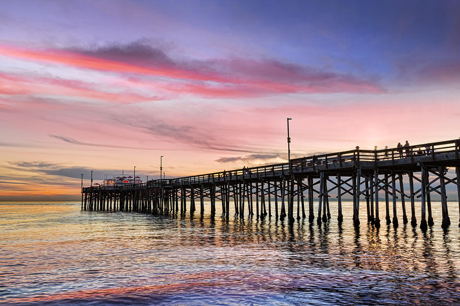 Balboa Photograph - Balboa Pier Sunset by Kelley King