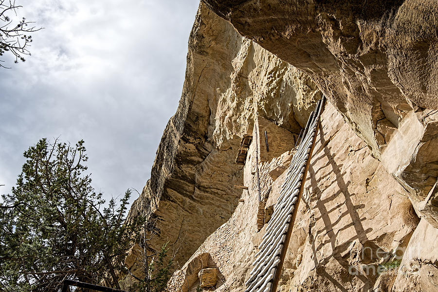 Mesa Verde National Park Photograph - Balcony 32 Ladder by Keith Ducker