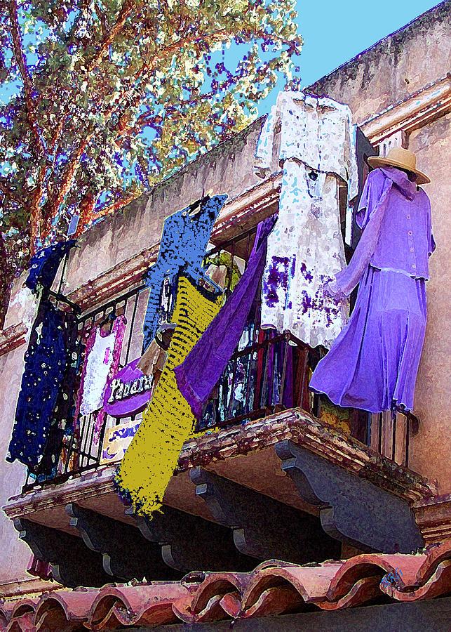 Hanging Clothes Photograph - Balcony by Ben and Raisa Gertsberg