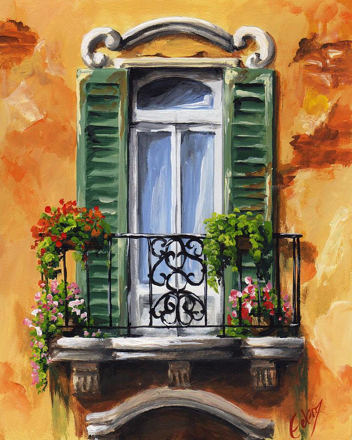 balcony of ravenna painting by edit voros