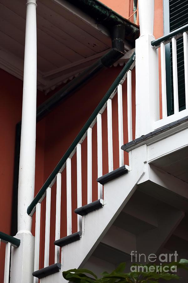 Balcony Photograph - Balcony Stairs by John Rizzuto