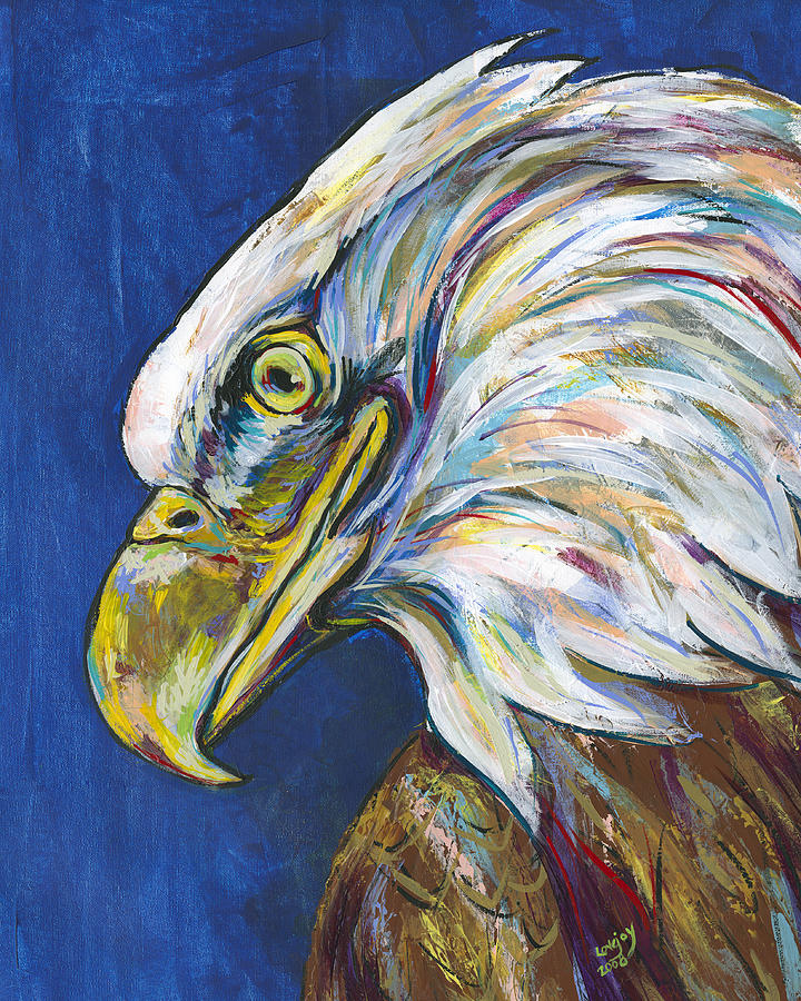 Lovejoy Painting - Bald Eagle by Lovejoy Creations