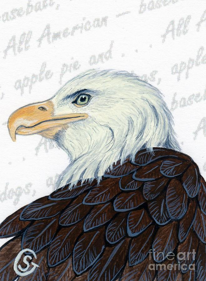 Bald Eagle Painting - Bald Eagle -- Proud To Be An American by Sherry Goeben