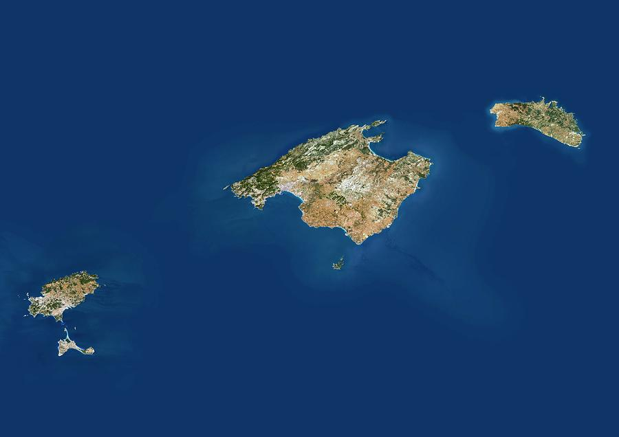 Balearic Islands Photograph - Balearic Islands by Planetobserver/science Photo Library