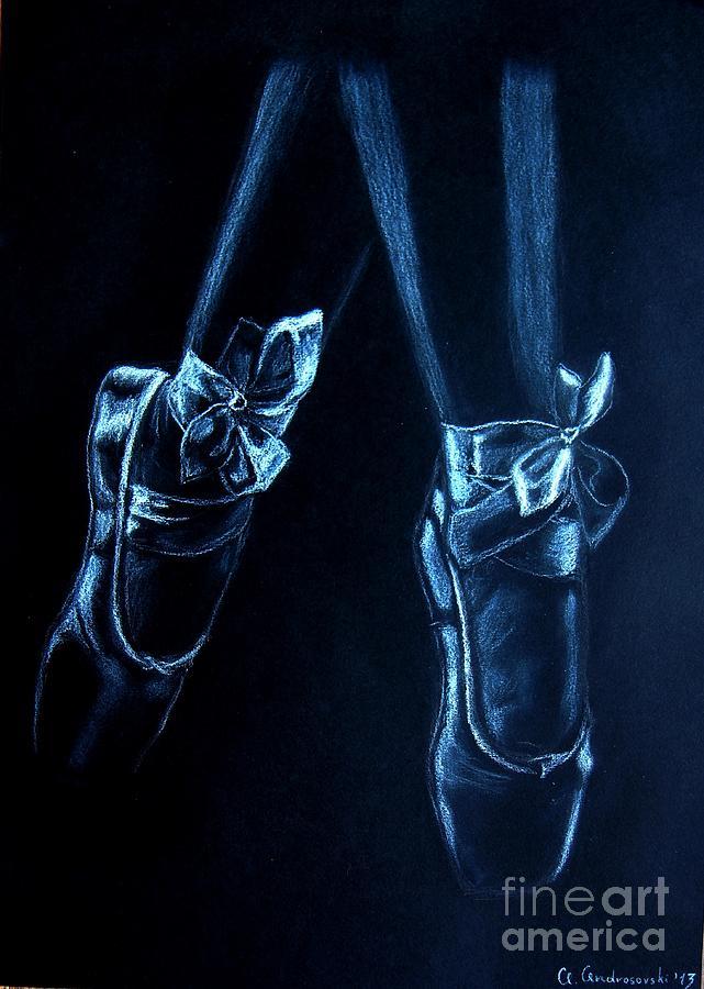 Drawing Painting - Balerinas by Anna Androsovski