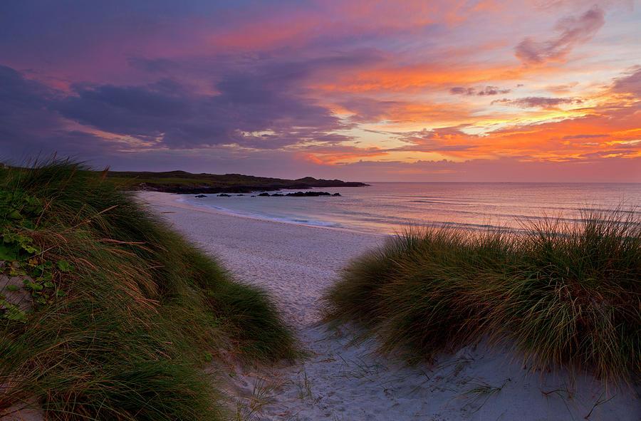Balevullin Beach At Twilight Photograph by Adrian Pope