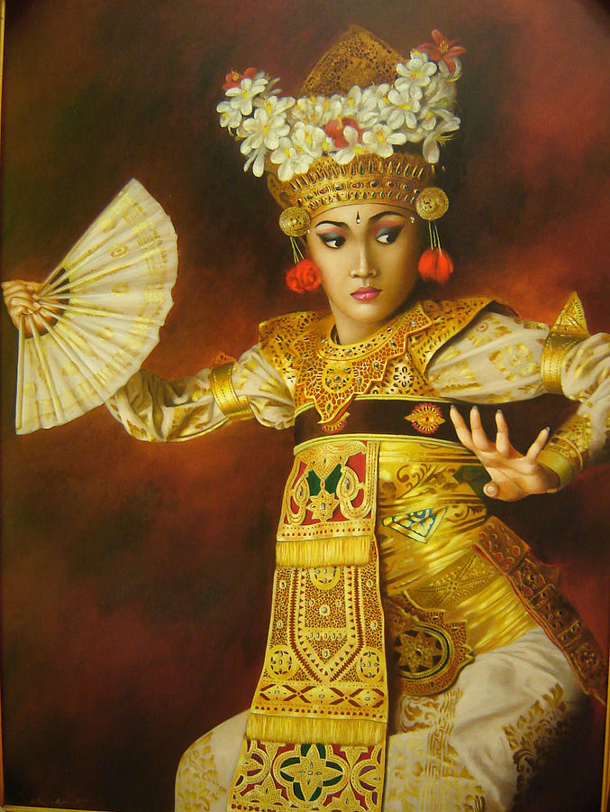 Balinese Dance Painting by Harry Nurdianto