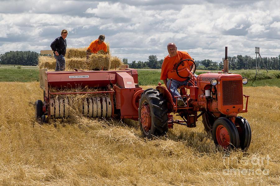 Baling Straw by Rural America Scenics