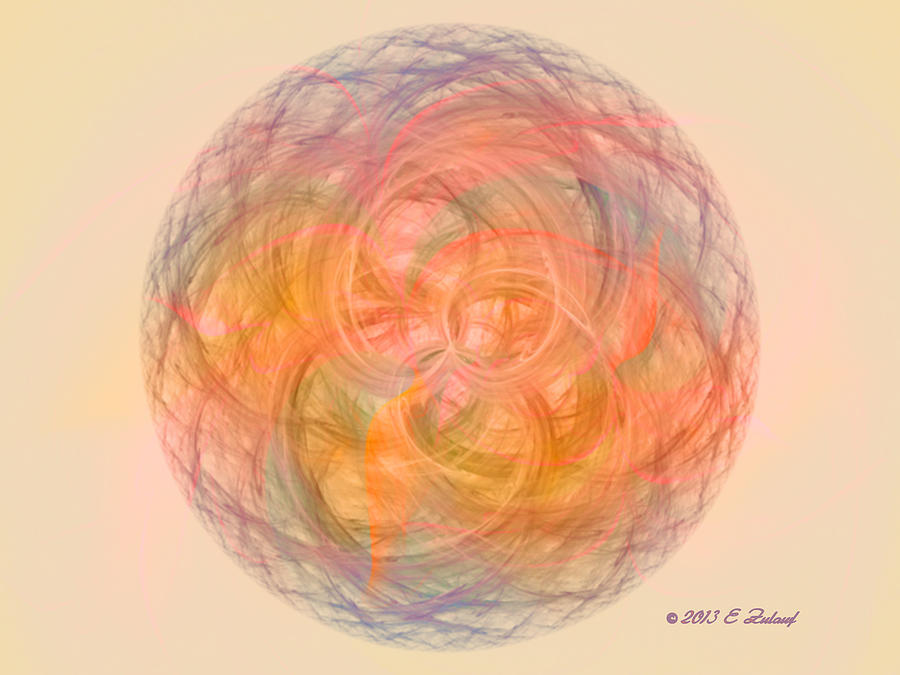 Calm Digital Art - Ball Of Calm by Elizabeth S Zulauf