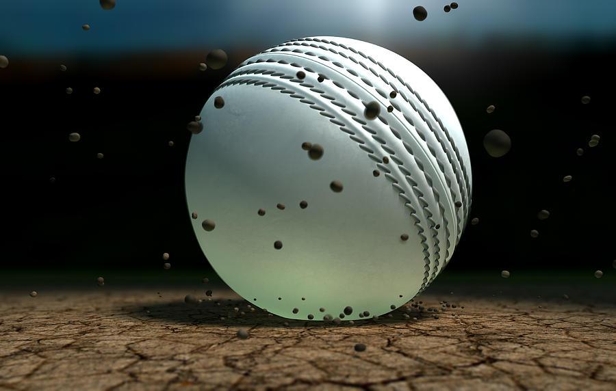 Cricket Digital Art - Ball Striking Bounce by Allan Swart