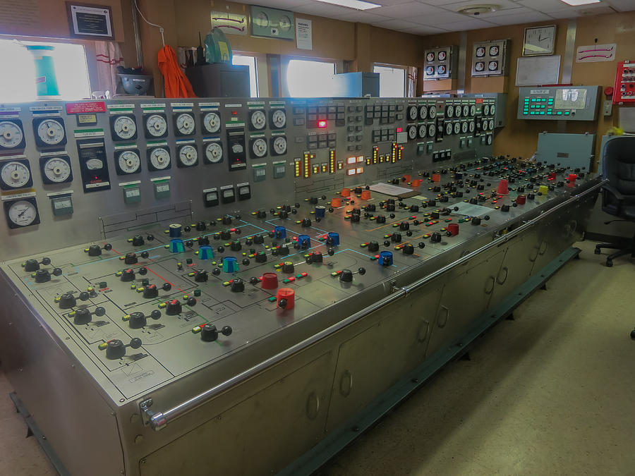 Ballast Control Panel Of The Ocean Valiant Semi Submersible Drilling Rig Photograph by Gregory Daley  MPSA