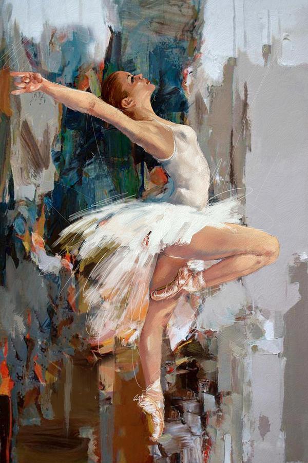 Catf Painting - Ballerina 22 by Mahnoor Shah