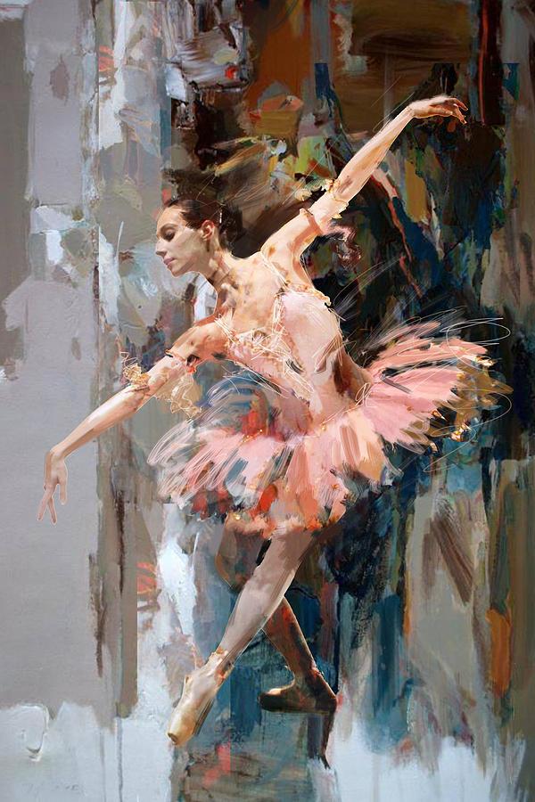 Catf Painting - Ballerina 29 by Mahnoor Shah