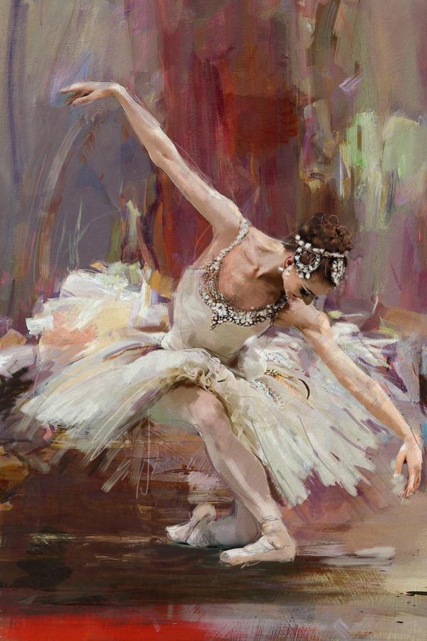 Catf Painting - Ballerina 36 by Mahnoor Shah