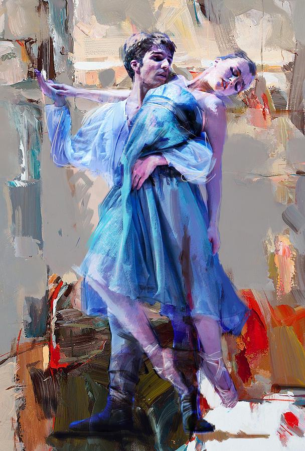Catf Painting - Ballerina 37 by Mahnoor Shah