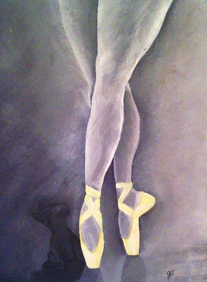 Ballerina Painting - Ballerina And Kitten by Joy Gilley