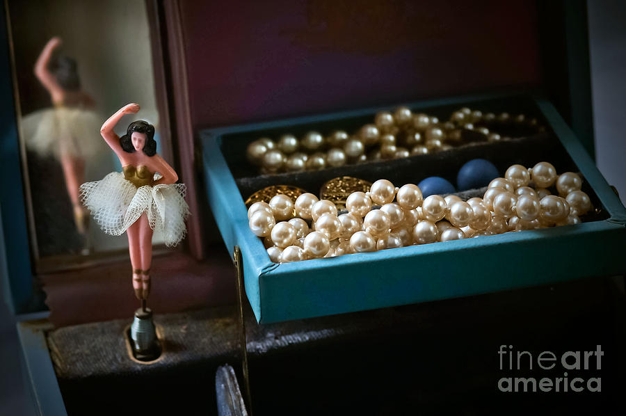 Jewelry Box Photograph - Ballerina And Pearls by Bobbi Feasel