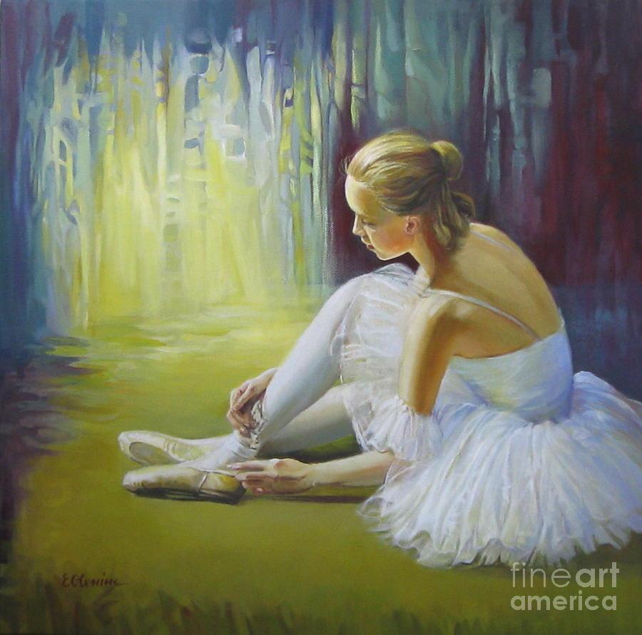 Ballerina Painting - Ballerina by Elena Oleniuc