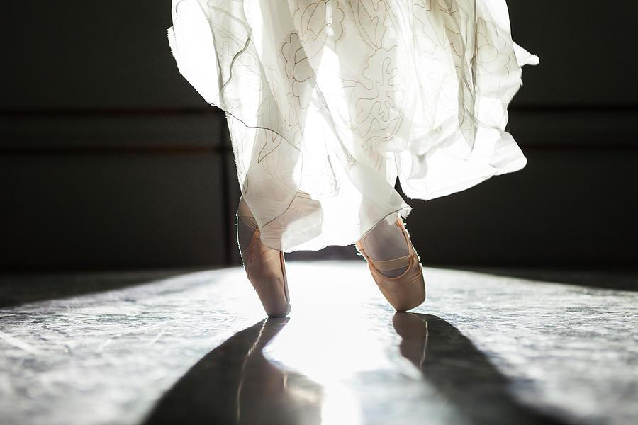 Ballerina Feet In Pointe Shoes Photograph by Nisian Hughes