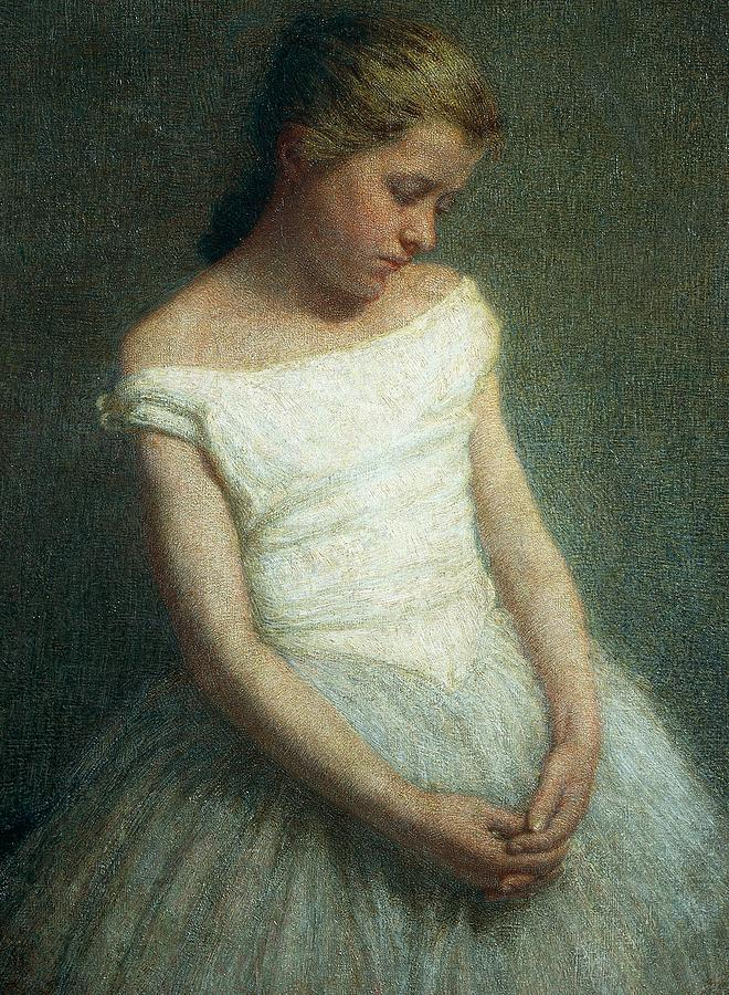 Neo-impressionism Painting - Ballerina Female Dancer by Angelo Morbelli