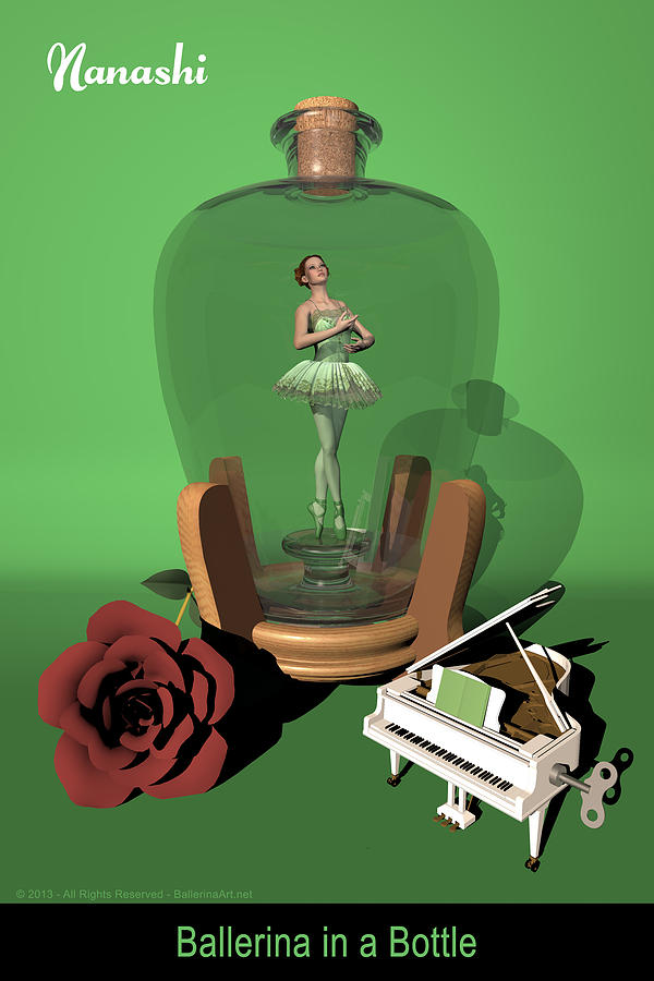 Ballerina Digital Art - Ballerina In A Bottle - Nanashi by Alfred Price