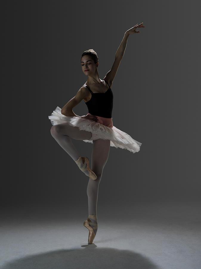 Ballerina In Ballet Passé Devant On Photograph by Nisian Hughes