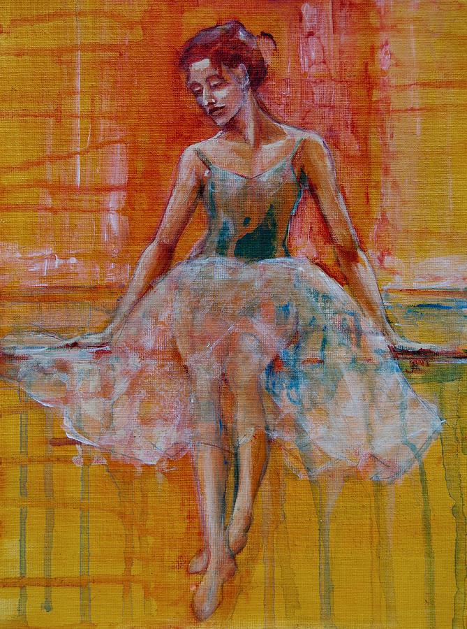 Ballarinas Painting - Ballerina In Repose by Jani Freimann