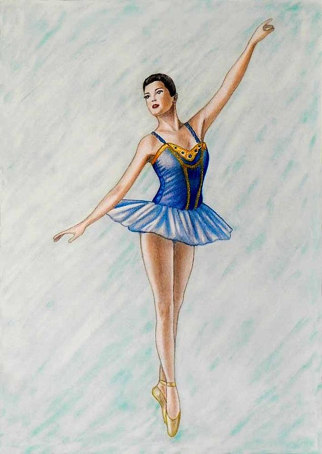 Dancer Painting - Ballerina Portrait Painting  by Luigi Carlo