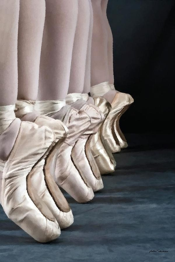 Ballet Painting - Ballerina Slippers by Janos Szijarto