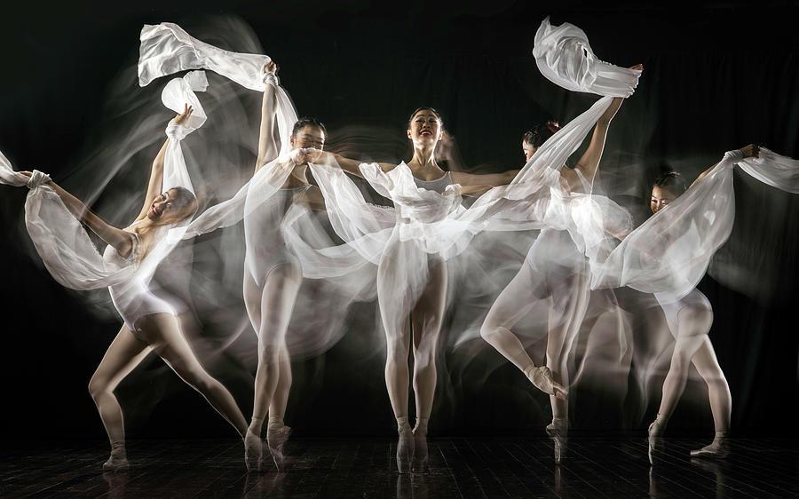 Movement Photograph - Ballerina Story by Martha Suherman