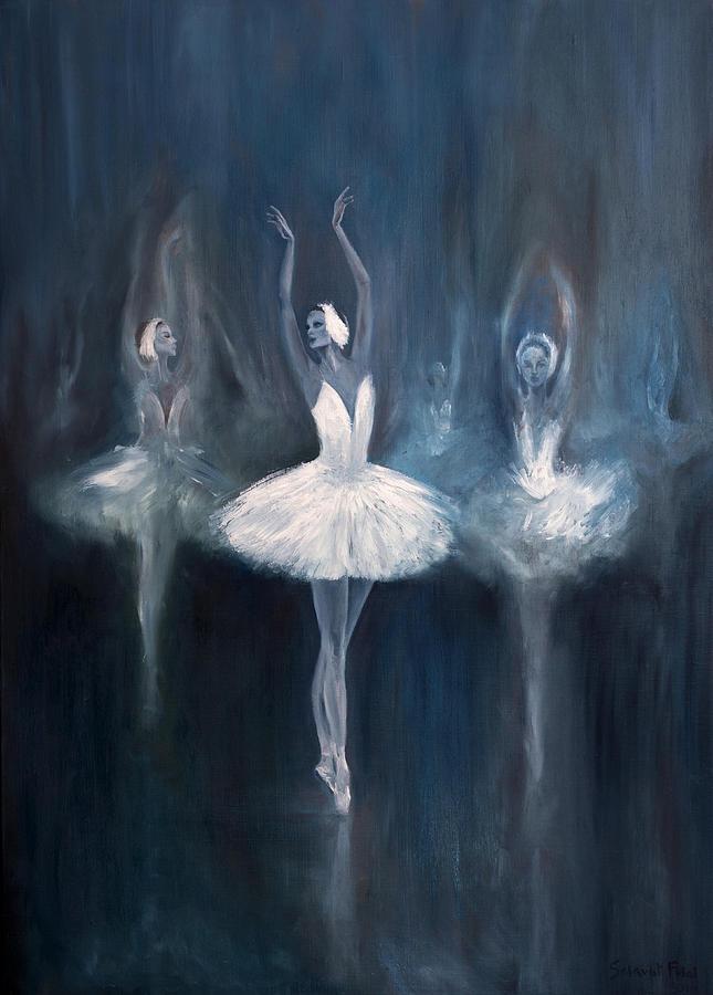 Ballerina Painting - Ballerina. Swan Lake. by Salavat Fidai