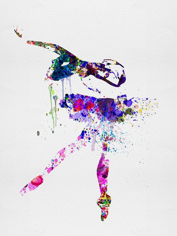 Ballet Painting - Ballerina Watercolor 2 by Naxart Studio