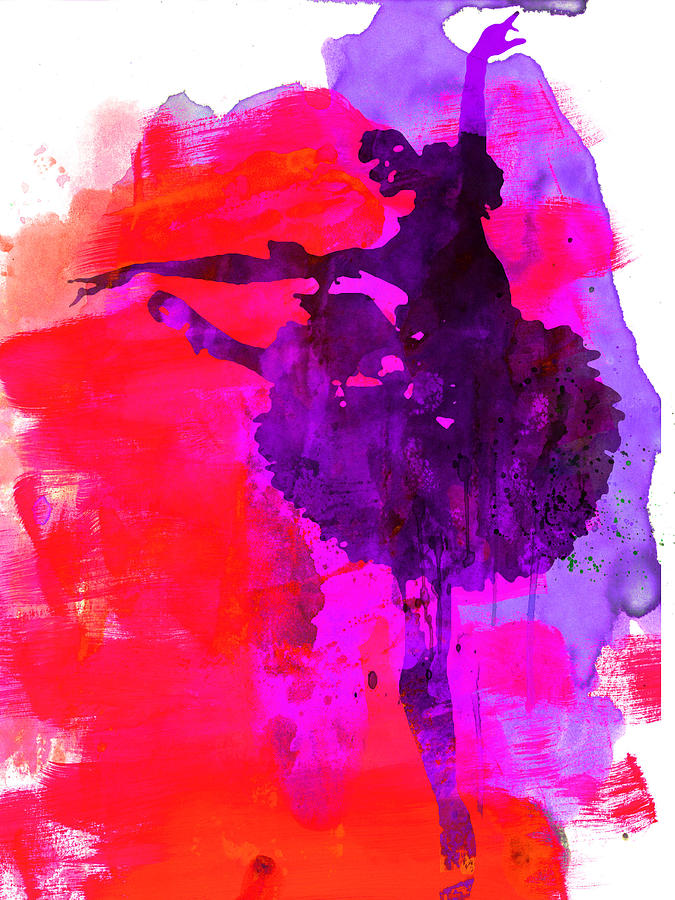 Ballet Painting - Ballerina Watercolor 3 by Naxart Studio