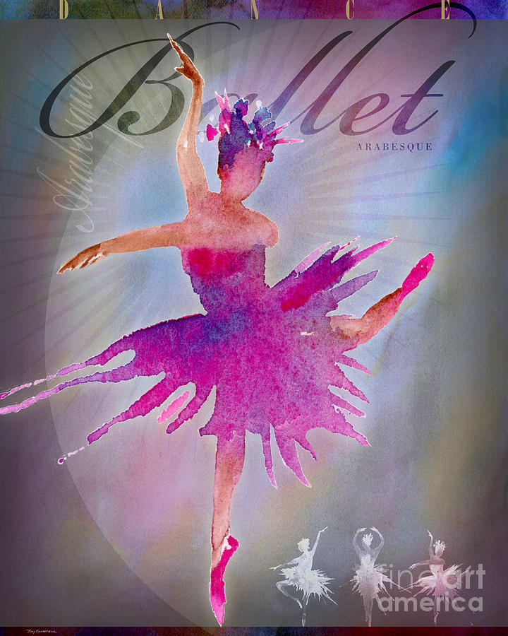 Ballet Arabesque Poster Digital Art
