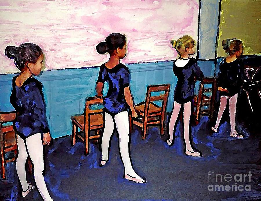 Children Photograph - Ballet Class by Sarah Loft