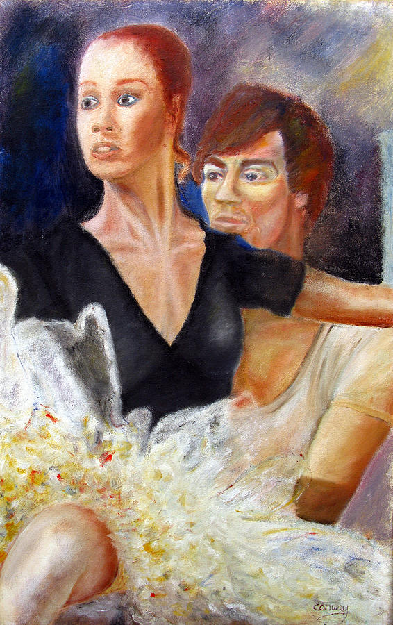 Ballet Painting - Ballet Dancers Rehearse For La Bayadere by Tom Conway