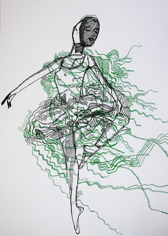 Jesus Drawing - Ballet by Gloria Ssali